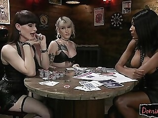 Gorgeous transgender chick group rimmed shemale