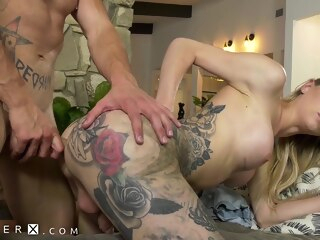 Lonely Chap Bonks His Trans Babysitter Luna Love shemale big tits shemale blonde shemale hd