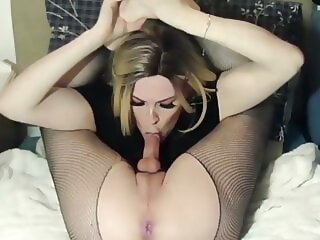 shemale cum mouth stockings mature american
